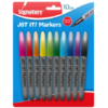 Fine Tip Coloured Marker Pen 10pk