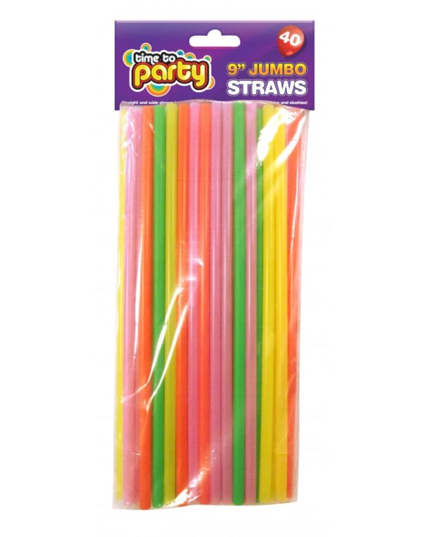 Party 9'' 40 Jumbo Straws