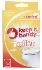 Keep it handy toilet cleaning powder