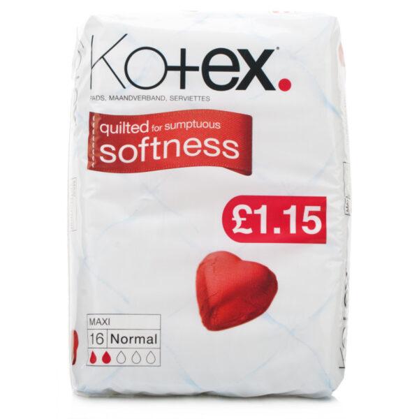 Kotex Maxi Normal Pads 16's