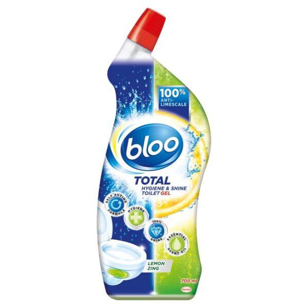 Bloo Total Hygiene & Shine Toilet Gel Lemon Zing 700ml