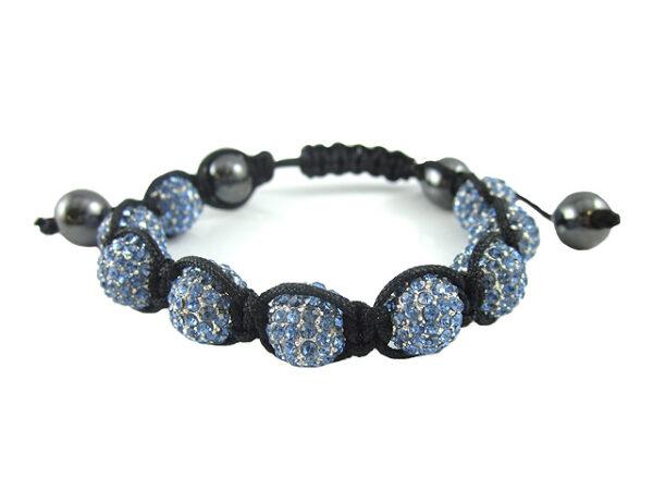 Crystal Ball Bracelet Light Sapphire