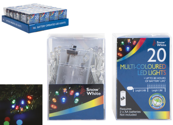 20 MULTI-COLOURED LED LIGHTS
