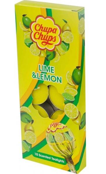 Chupa Chups Lime & Lemon 10 Scented Tealights