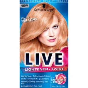 Schwarzkopf Live Lightener + Twist 103 Peach Blush Hair Dye