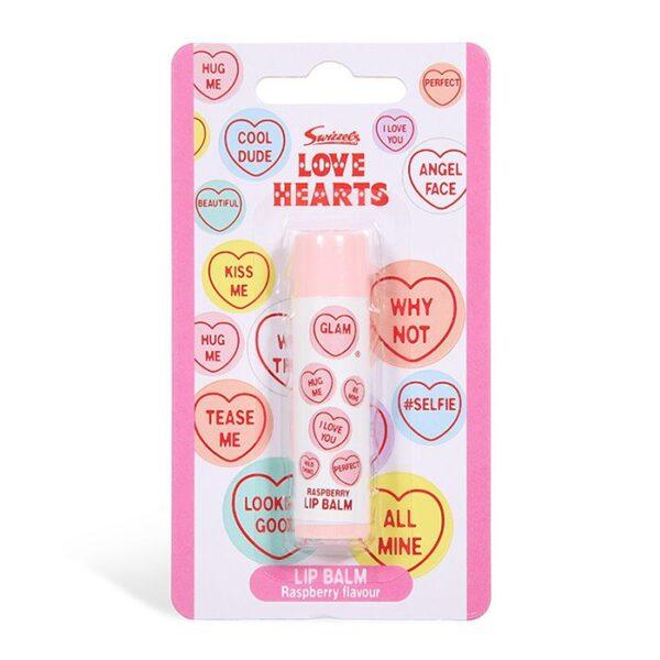 swizzels love hearts raspberry flavour lip balm