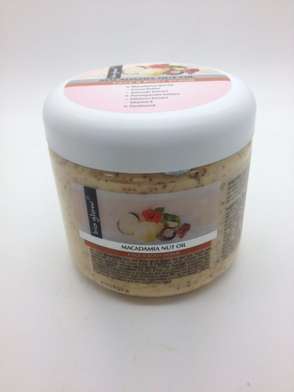 Bio Glow - Macadamia Nut Oil Face & Body Scrub 300ml