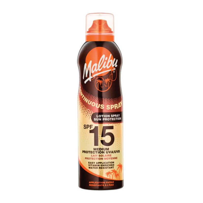 Malibu Continuous Lotion Spray spf15 175ml