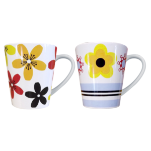 Art Deco Flower Mugs Colours may vary ONLY ONE SUPPLIED