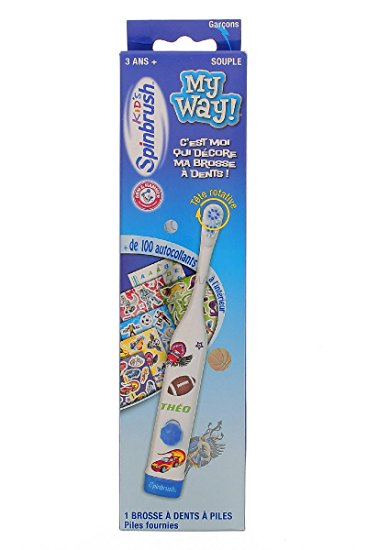 Spinbrush My Way Powered Toothbrush Boys with Stickers
