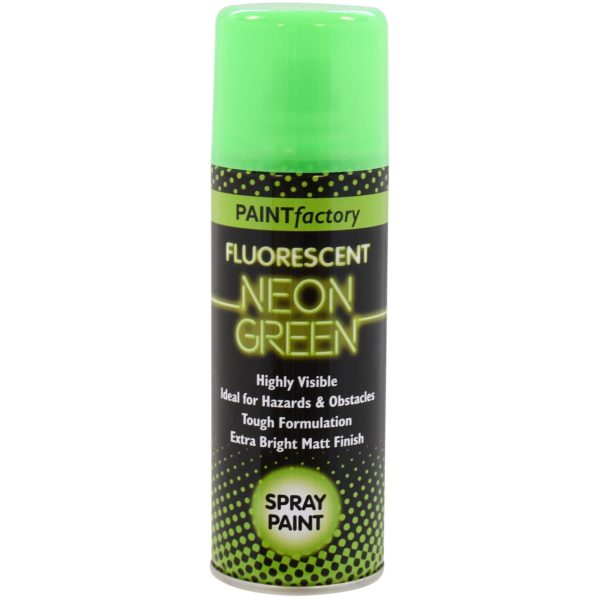 Paint Factory Fluorescent Neon Green Spray Paint 200ml