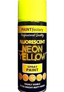 Paint Factory Fluorescent Neon Yellow Spray Paint 200ml