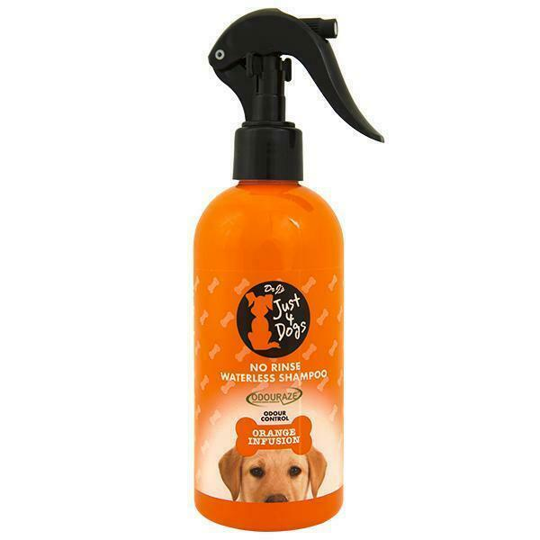 Dr J's Just 4 Dogs No Rinse Waterless Shampoo Orange Infusion 300ml