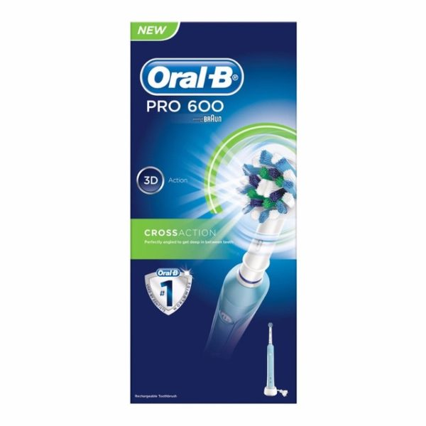 Oral-B Pro 600 Cross Action Electric Toothbrush Powered By Braun