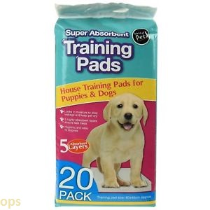 super absorbent training pads 20 pack