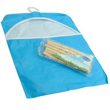 Peg Bag With 12 Wooden Pegs