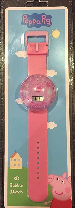 KIDS Peppa Pig 3D Bubble Watch