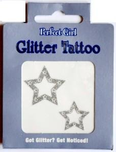 Perfect Girl Glitter Tattoo 4 Pack - Designs and colours may vary