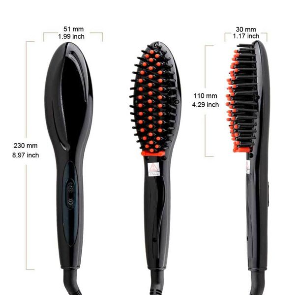 Perfecta Oval Hair Electric Straightening Brush