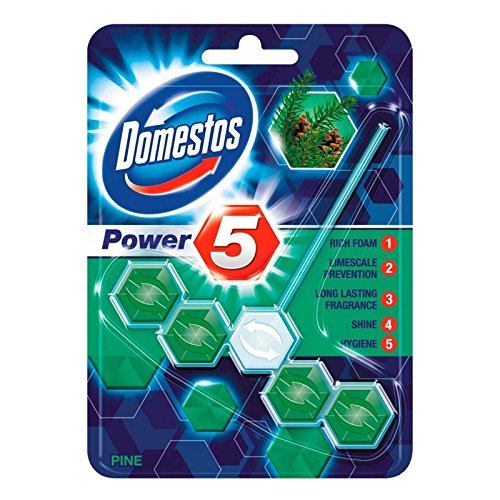 Domestos Power 5 Toilet Block Pine 55g