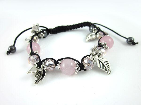Crystal Ball Bracelet Pink