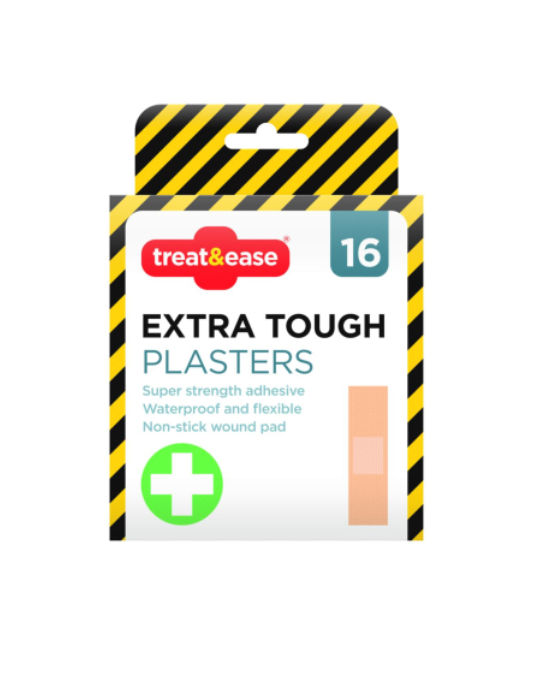 Treat & Ease Extra Tough Plasters 16pk