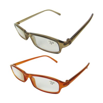 1Pair Ready View Lightweight Lens Strength +3.5x Reading Glasses