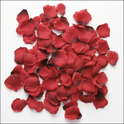 bride&groom decorative rose petals 100 approx
