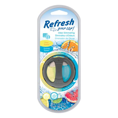 Refreshing Your Car Odour Eliminating Dual Scented Oil Diffuser Citrus Sparkle/Summer Splash