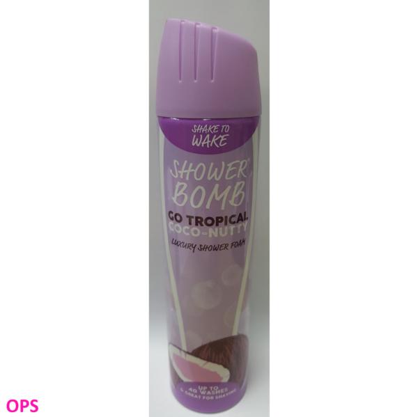 shake to wake shower bomb GO TROPICAL COCO-NUTTY luxury shower foam 200ml