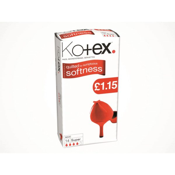 Kotex Softness Maxi Super Pads 14's