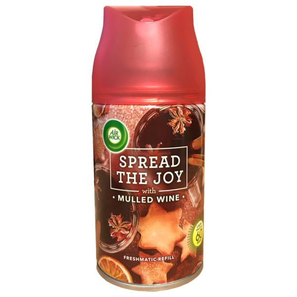 AIR WICK SPREAD THE JOY MULLED WINE FRESHMATIC REFILL AIR FRESHENER SCENT 250ML