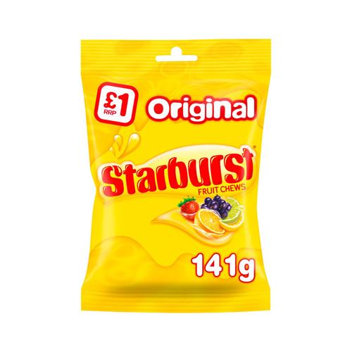 Starburst Original Fruit Chews Treat Bag 141g