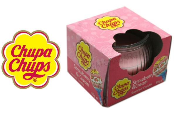 Chupa Chups Strawberry & Cream Scented Candle 85g