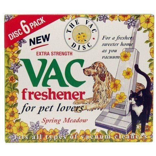 Vac Air Freshner Vacuum Cleaner Pet Lovers Hoover Disc (1 x Spring Meadow)