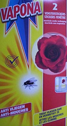 Vapona 2x Window Fly Trap Stickers - Red Flower