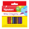 signaure wax crayons 40pk