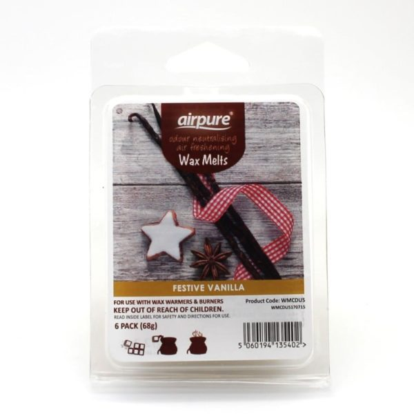 AIRPURE WAX MELTS FESTIVE VANILLA FLAVOR 6 PER PACK FOR CERAMIC BURNER