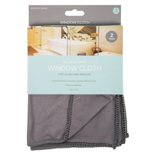 MicroFibre Window Cloths For Glass & Windows 2 pack