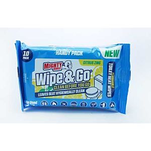 Mighty Burst Wipe & Go Clean Before You Go Citrus Zing 10 Pack