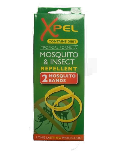Xpel Mosquito & Insect repellent bands Green Box