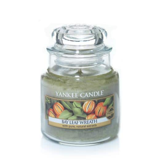 yankee candle bay leaf wreath small candle
