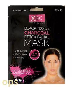 XBC Xpel Black Tissue Charcoal Detox Facial Mask 28ml