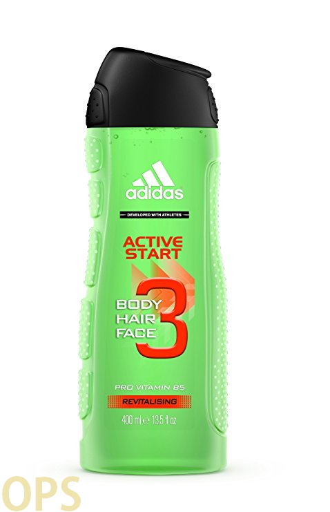 Adidas ACTIVE START 3 in 1 Shower Gel for Body, Hair, Face 400 ml