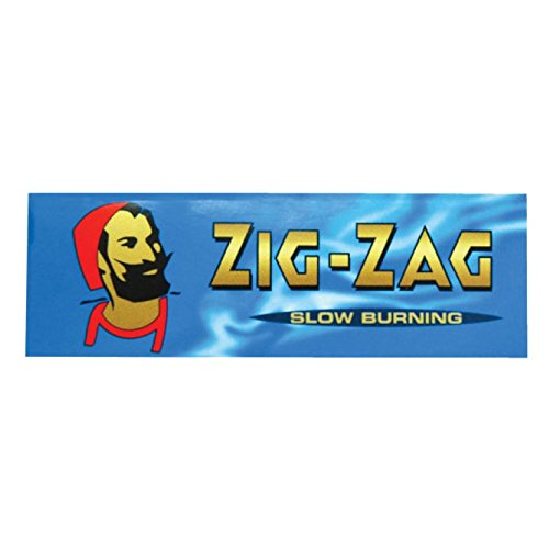 Zig Zag Blue Standard Size Slow Burning Rolling Papers