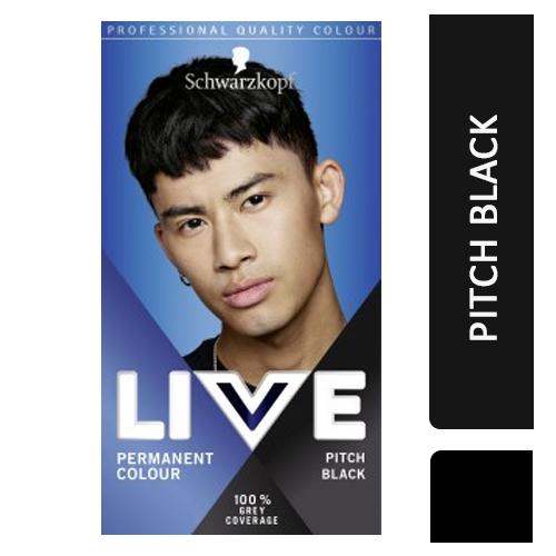 Schwarzkopf Live Permanent Hair Color for Men Pitch Black ...